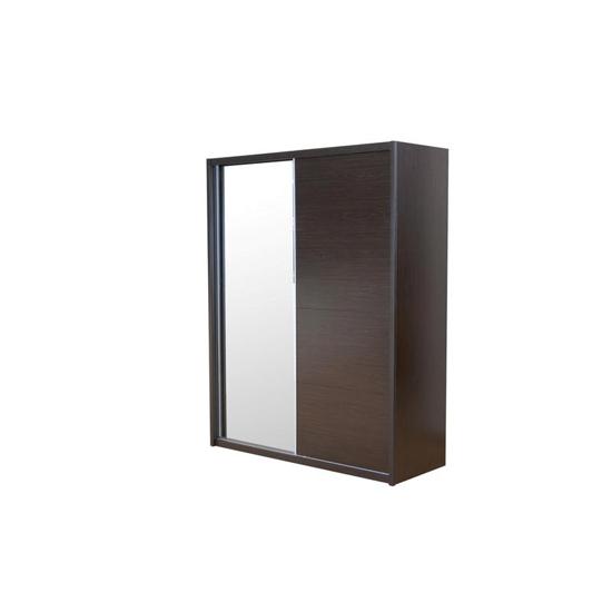 Laura Mirrored Sliding Wardrobe In White Gloss 2 With Doors