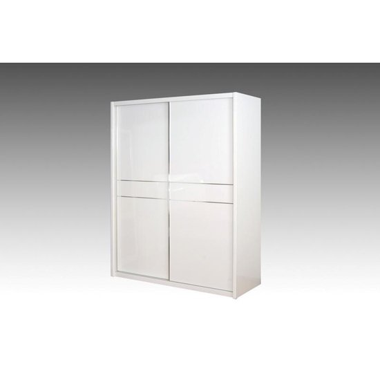 Laura Sliding Wardrobe With High Gloss 2 Doors