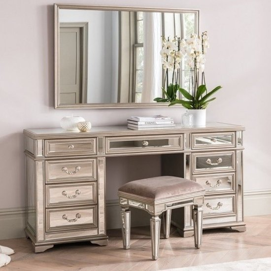 Jessica Wooden Mirrored Dressing Set In Taupe_1