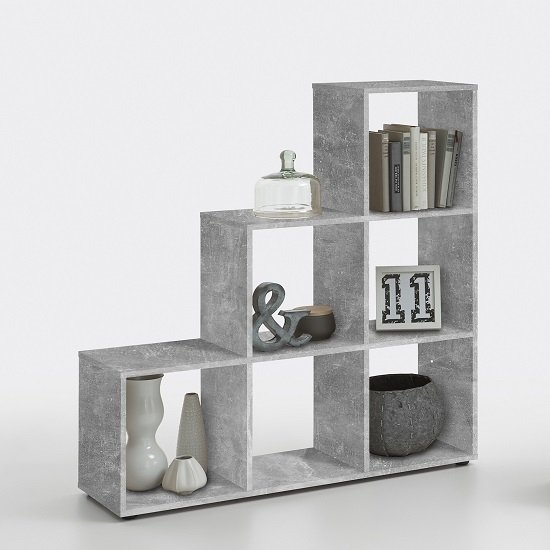 Jessica Display Shelves In Light Atelier With 6 Compartments