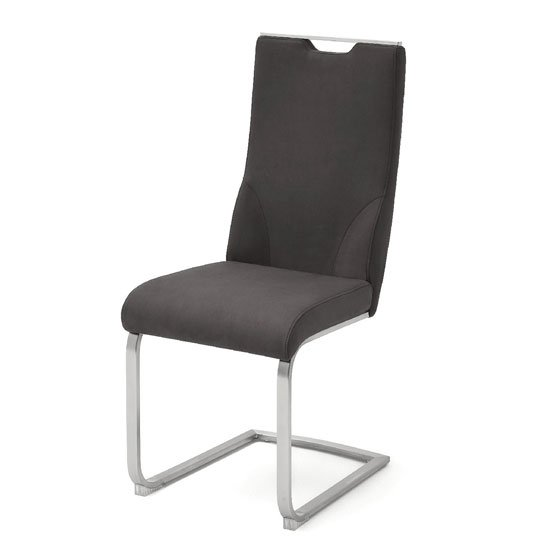 Jiulia Cantilever Dining Chair In Anthracite