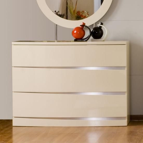 Joanne Almond Gloss 3 Drawer Dresser