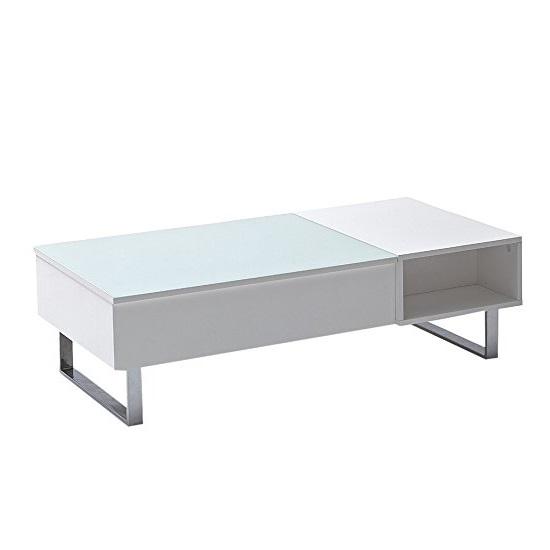 Florence Lift Up Storage White Gloss Coffee Table: Joe Glass Coffee Table In White High Gloss With Lift 23948 F