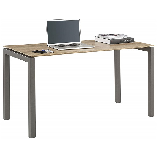 Joffe Wooden Computer Desk In Rivera Oak and Anthracite