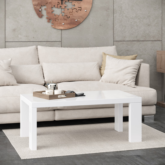 Joule Wooden Coffee Table In White High Gloss