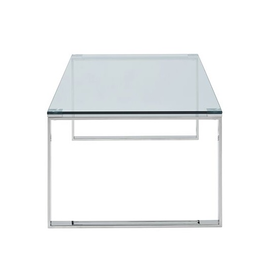 Coffee Table Silver Legs: Joyce Coffee Table Rectangular In Clear Glass With Silver