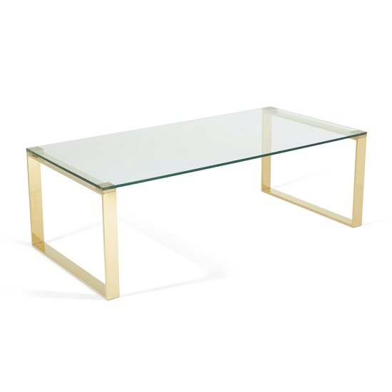 Joyce Coffee Table Rectangular In Clear Glass With Gold Legs_2