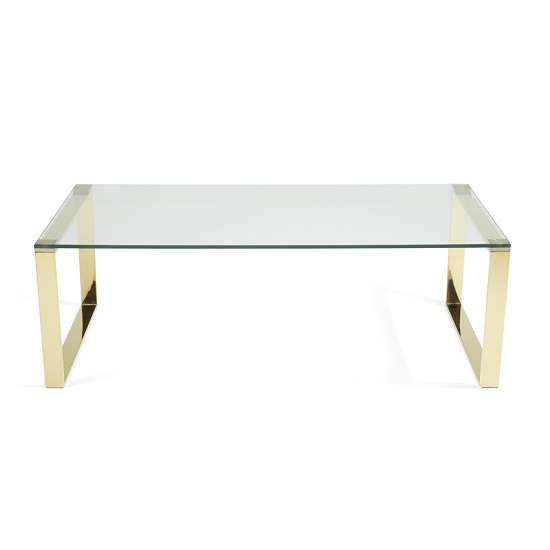 Joyce Coffee Table Rectangular In Clear Glass With Gold Legs_3