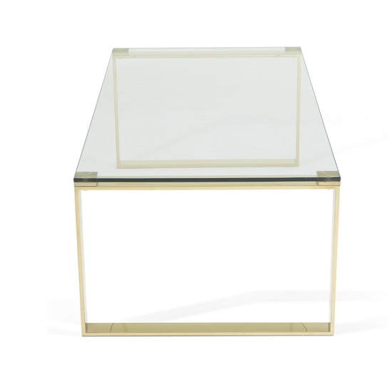 Joyce Coffee Table Rectangular In Clear Glass With Gold Legs_4