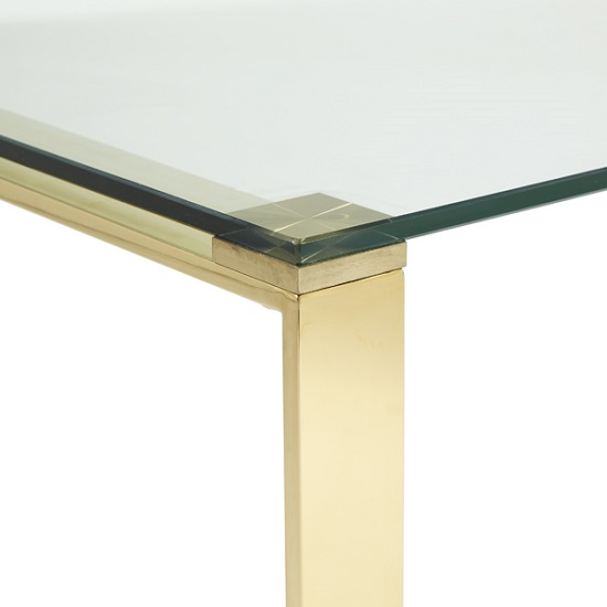 Coffee Table Legs Gold: Joyce Coffee Table Rectangular In Clear Glass With Gold