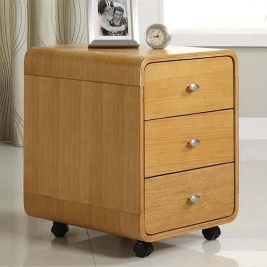Cohen Office Pedestal In Oak With 3 Drawers