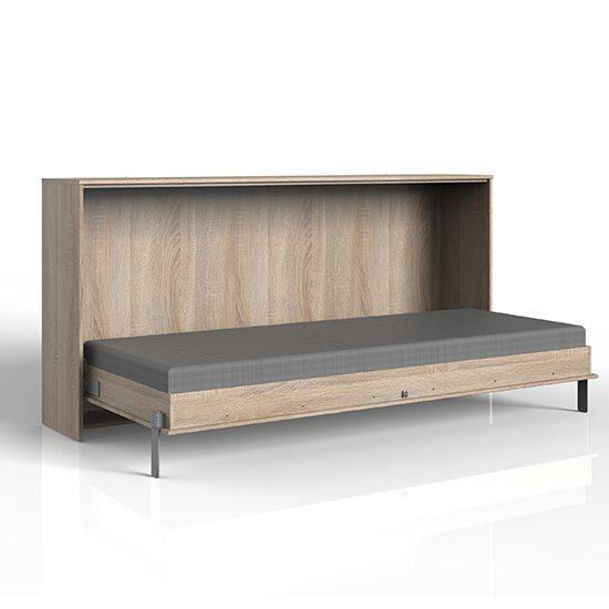 Juist Wooden Horizontal Foldaway Single Bed In Planked Oak