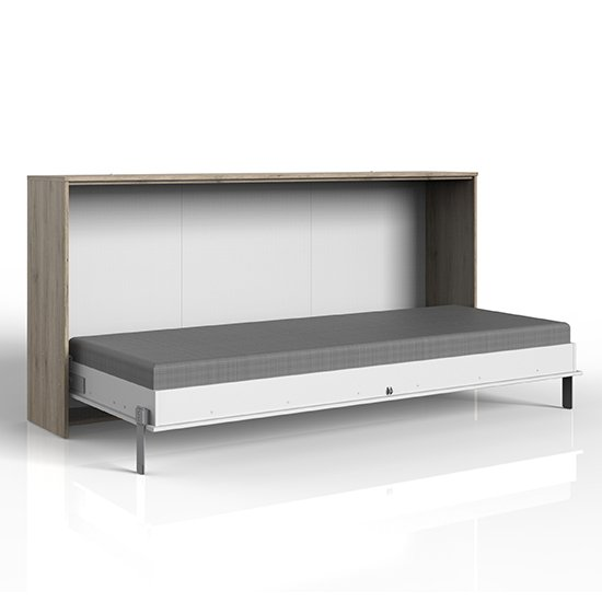 Juist Wooden Horizontal Foldaway Single Bed In San Remo Oak