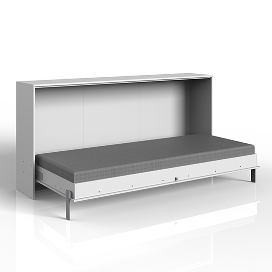 Juist Wooden Horizontal Foldaway Single Bed In White