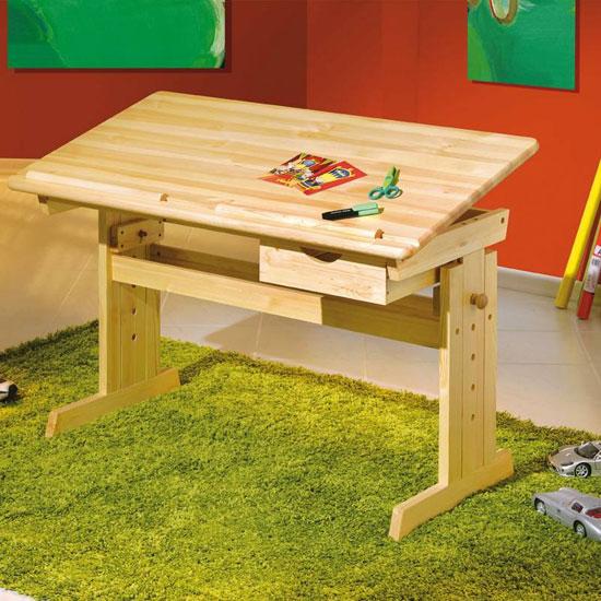 View Julia wooden adjustable laptop desk in natural oak