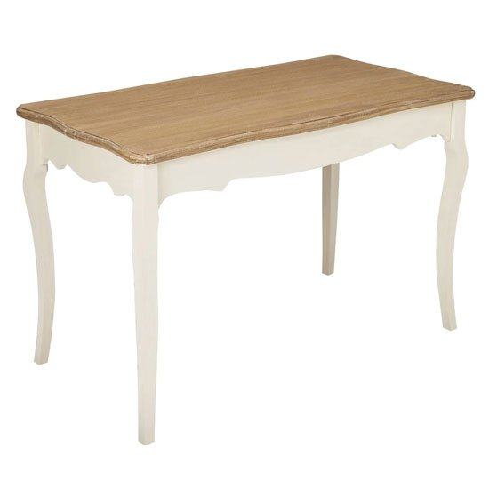 Juliette Wooden Dining Table In Cream