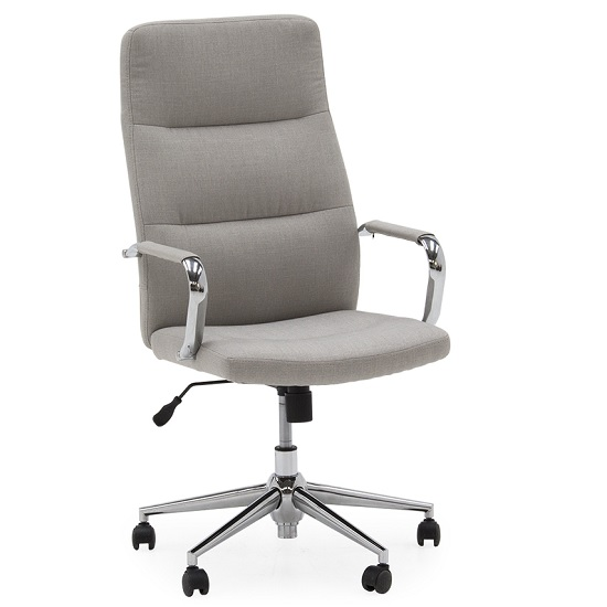 Julio Fabric Office Chair In Beige With Castors
