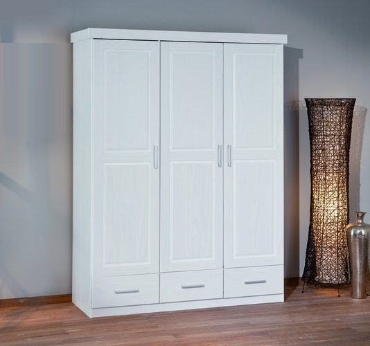 door wardrobe with drawers julio white 3 door 3 drawers 21062 furniture in 4