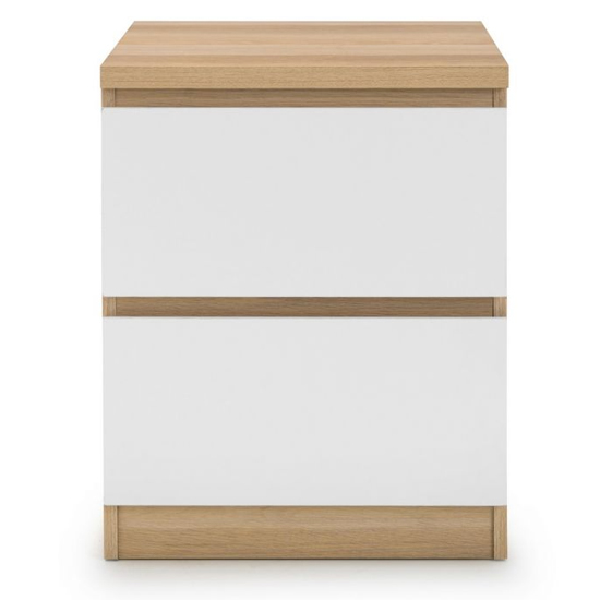Jupiter Bedside Cabinet In Oak And White With 2 Drawers_3