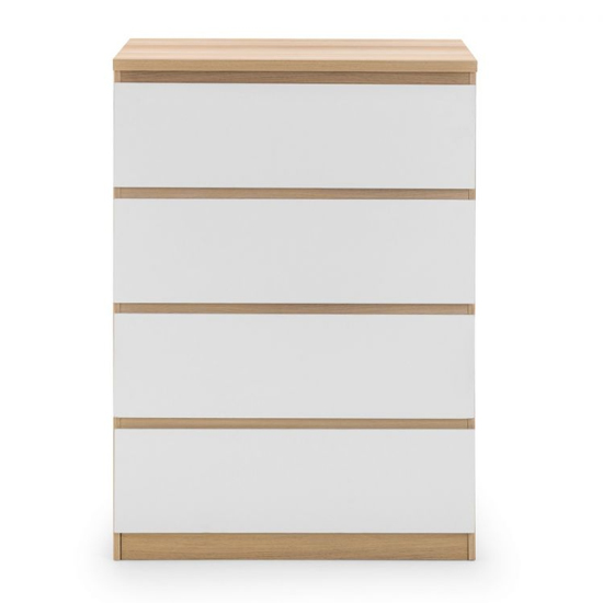 Jupiter Chest Of Drawers In Oak And White Gloss With 4 Drawers_3
