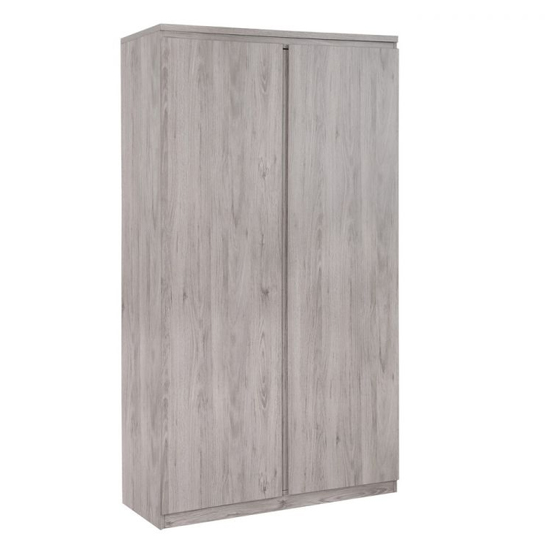 Jupiter Wooden Wardrobe In Grey Oak With 2 Doors