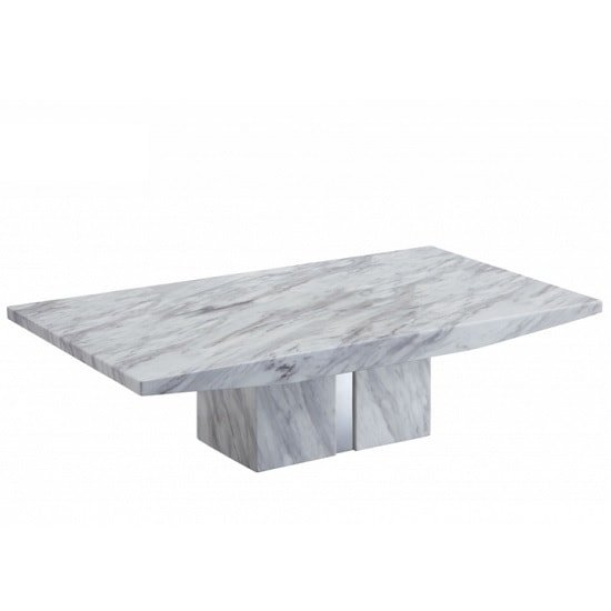 Extra Large Stone Coffee Table: Jupiter Marble Coffee Table Rectangular In White Carrera