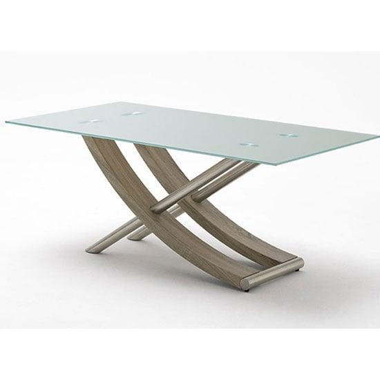 Kaleo Frosted Glass Dining Table With X Shape Oak Base 180 : kaleoglassdintab from www.furnitureinfashion.net size 550 x 550 jpeg 22kB