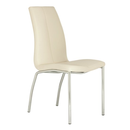 View Kansas faux leather dining chair in white