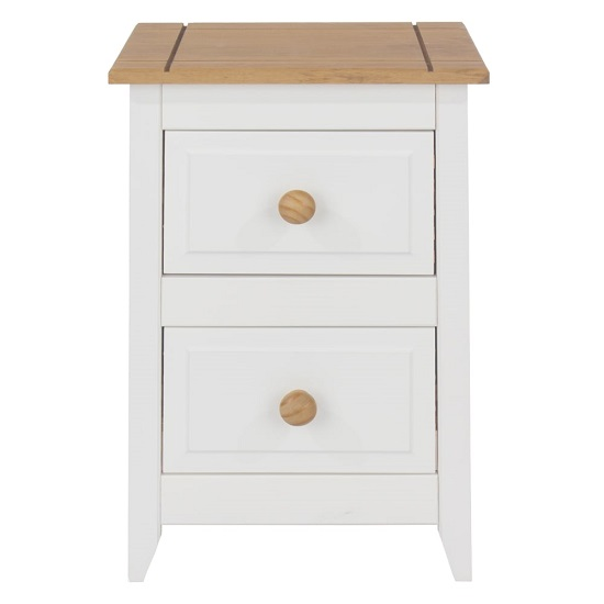 Kapri Two Drawer Bedside Cabinet In White And Antique Wax_2