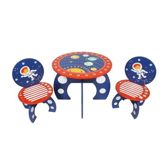 Karley Table And Chairs In Red And Blue