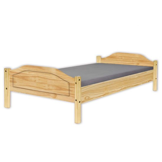 Karlo Wooden Double Bed In Natural Oak