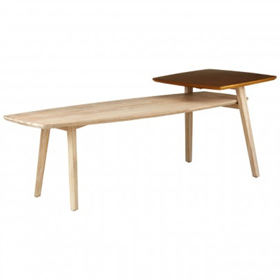 Karot Wooden Coffee Table In Light Grey