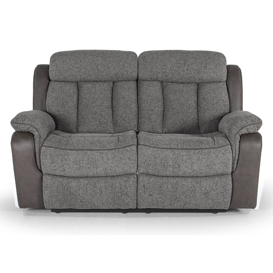 Karr Two Seater Recliner Fabric Sofa In Grey_1