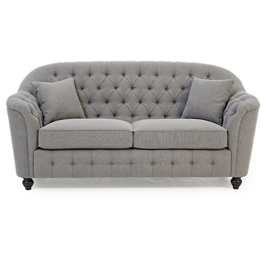 Karrio Linen Fabric 2 Seater Sofa In Grey_2