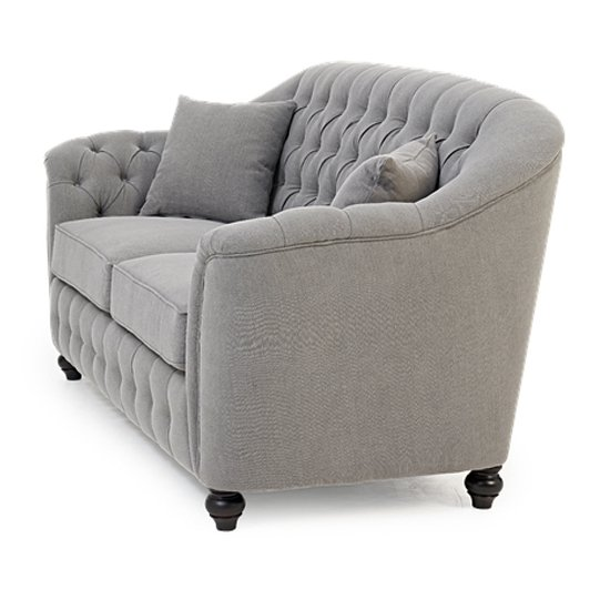 Karrio Linen Fabric 2 Seater Sofa In Grey_4