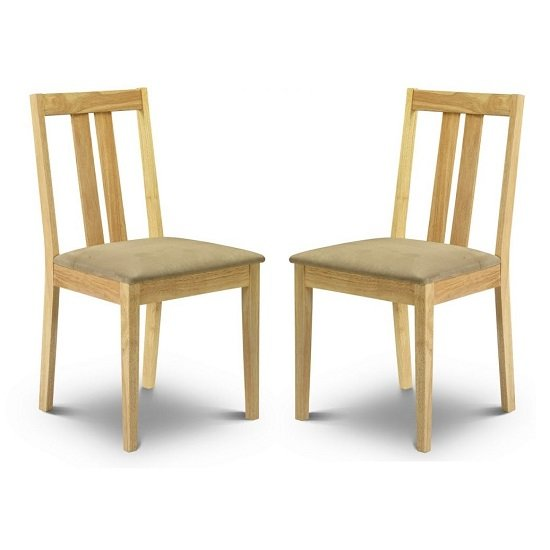 Kassia Wooden Dining Chairs In Natural Lacquered In A Pair