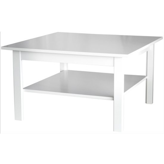 View Katarina square wooden coffee table in white