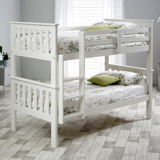 Katie Wooden Bunk Bed In White Pine