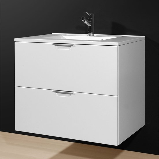 Katja Bathroom Vanity Cabinet in Gloss White