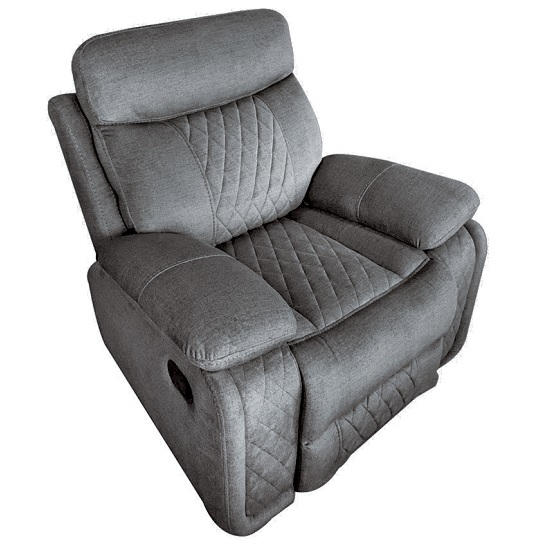 Katniss Fabric Recliner Sofa Chair In Grey