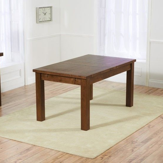 Kaveh Large Extending Wooden Dining Table In Dark Oak