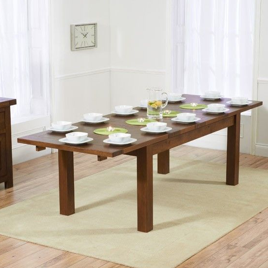 Kaveh Medium Wooden Extending Dining Table In Dark Oak