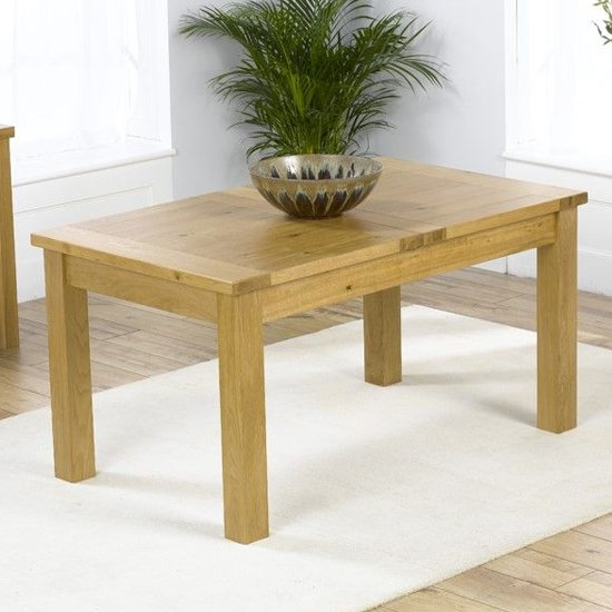 Kaveh Small Wooden Extending Dining Table In Oak