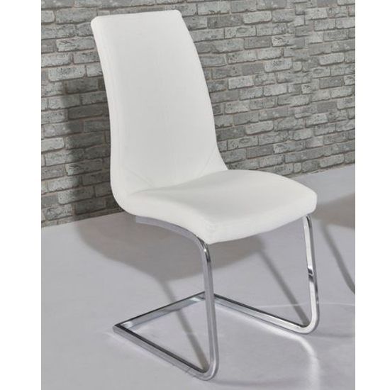View Orly faux leather dining chair in white