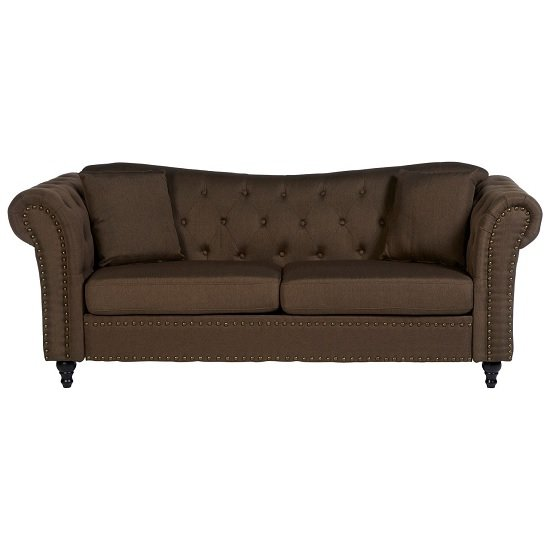 Kelly Chesterfield 3 Seater Sofa In Natural With Wooden Feet_2