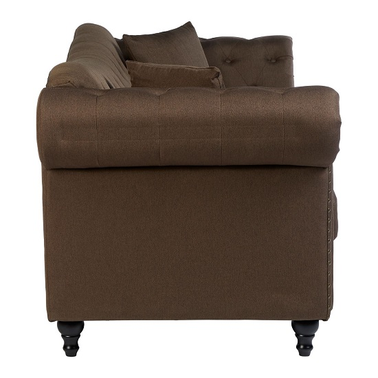 Kelly Chesterfield 3 Seater Sofa In Natural With Wooden Feet_3