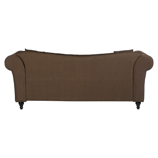Kelly Chesterfield 3 Seater Sofa In Natural With Wooden Feet_4