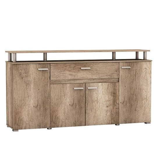 Kelso Large Sideboard In Monument Oak With 4 Doors