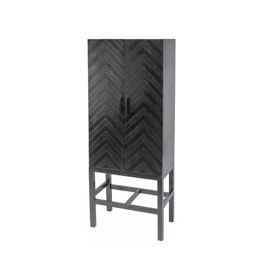 Kelso Metal Storage Cabinet In Dark Brown With 2 Doors