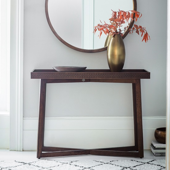 Kelton Retreat Wooden Console Table Rectangular In Mango Wood